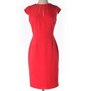 NWOT Adrianna Papell red sheath dress